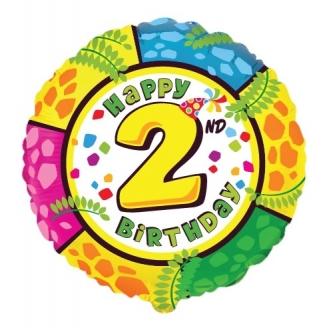 "Balon foliowy 18"" FX - "" Happy Birthday - 2 """