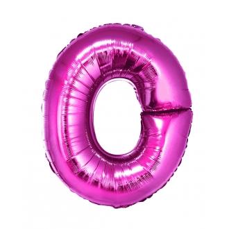 """Balon foliowy """"Litera O"""", różowa, 35 cm"""