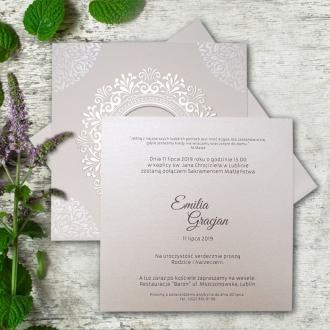 Zaproszenie Ślubne z Złotym Tłoczeniem F5535