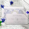 Zaproszenie Ślubne w Formie Kieszonki z Ozdobnym Motywem F5574