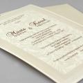 Zaproszenie Ślubne w Kolorze Ecru w Formie Koszulki F2684