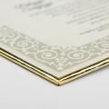 Zaproszenie Ślubne w Kolorze Ecru z Ornamentami F3663