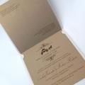 Zaproszenie Ślubne w Kolorze Ecru z Parą Młodą 3D F1427