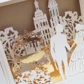 Zaproszenie Ślubne w Kolorze Ecru z Parą Młodą 3D F1421