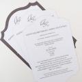 Zaproszenie Ślubne w Kolorze Złamanej Bieli z Misternymi Wycięciami F1403