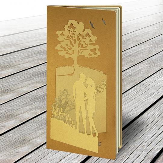 Zaproszenie Ślubne w Kolorze Antycznego Złota F1413az