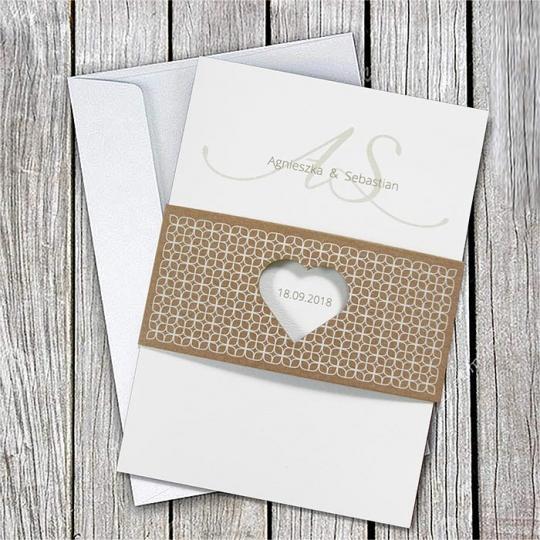 Zaproszenie Ślubne z Ekologiczną Banderolą F1415