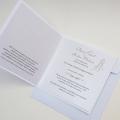 Zaproszenie Ślubne w Kolorze Bieli z Akwarelową Parą Młodą F1420