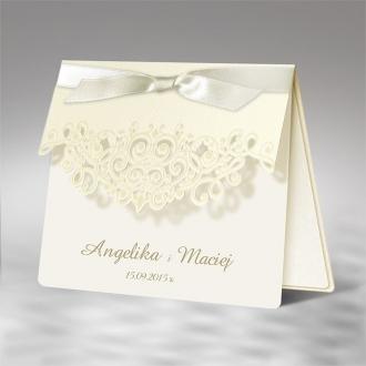 Zaproszenia Ślubne z matowego papieru w kolorze ecru F1205ep