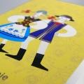 Zaproszenie Ślubne Ilustrowane z Folkowym Motywem F1370
