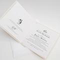 Zaproszenie Ślubne z Ilustracją Młodej Pary F1416