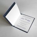 Zaproszenie Ślubne Granatowe z Witrażem F1307ng