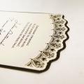 Zaproszenie Ślubne w Kolorze Ecru z Koronką F1274
