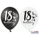 Balony 30cm, 18th! birthday, mix, 6szt.