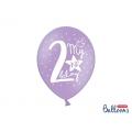 Balony 30cm, My 2nd bday, mix, 6szt.