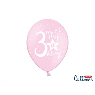 Balony 30cm, My 3rd bday, mix, 6szt.