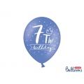 Balony 30cm, 7th! birthday, mix, 6szt.
