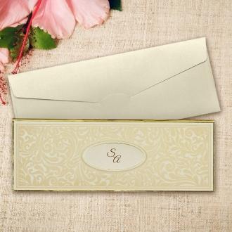 Zaproszenia Ślubne z Klasycznym Motywem i Inicjałami Młodej Pary F3670