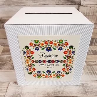 Pudełko na koperty i prezenty z Motywem Ludowym WP03