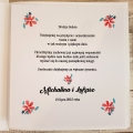 Pudełko na koperty i prezenty z Motywem Malowanych Kwiatów WP04