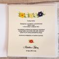 Księga Gości z Motywem Kolorowych Kwiatów WK05