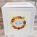 Pudełko na koperty i prezenty z Motywem Kolorowych Kwiatów WP05