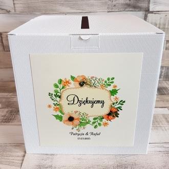 Pudełko na koperty i prezenty z Motywem Pastelowych Kwiatów WP07