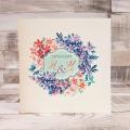 Księga Gości z Motywem Malowanych Kwiatów WK04