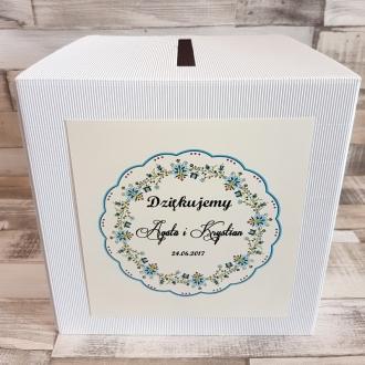 Pudełko na koperty i prezenty z Motywem Wiejskim WP08
