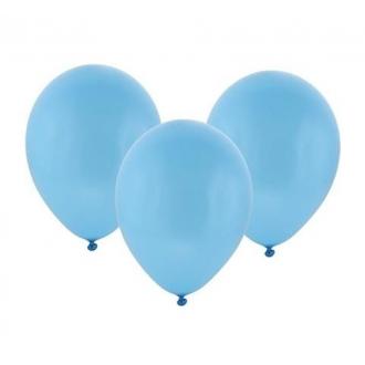 """Balon metaliczny 12"""" """"Bronisze"""" / błękitny, 100 szt."""