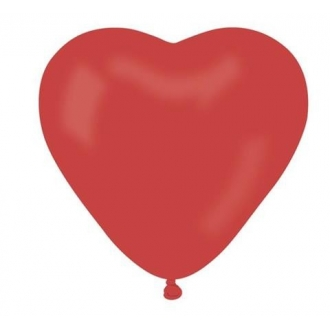 "Balon CR6 pastel ""Serce bez nadruku"" - ""czerwony 45"" / 100 szt."
