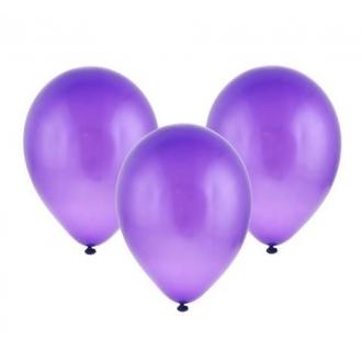 """Balon metaliczny 12"""" """"Bronisze"""" / fioletowy, 100 szt."""