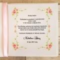 Winietka Ślubna z Motywem Róż i Różową Tasiemką WW09