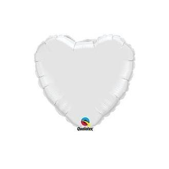 "Balon foliowy 36"" QL HRT ""Serce srebrne"""