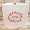 Pudełko na koperty i prezenty z Motywem Róż i Różową Tasiemką WP09
