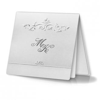 Zaproszenia Ślubne z Srebrzonym Delikatnym Wzorem F1082