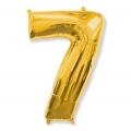 """Balon foliowy FX - """"Number 7"""" złoty, 85 cm"""
