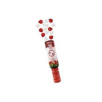Konfetti pneumatyczne - Płatki róż czerwone i białe serca / 30 cm