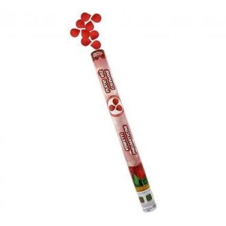 Konfetti pneumatyczne - Płatki róż, czerwone, tekstylne / 80 cm
