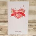 Pudełko na koperty i prezenty z Motywem Serca z Róż WP20