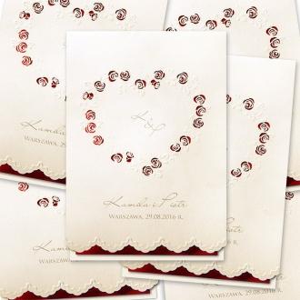 Zaproszenia Ślubne z Sercem F1259