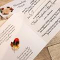 Zaproszenie Ślubne z Motywem Ptasich Piór WZ24