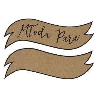 Tabliczki z napisami Młoda para/ramka wykonane z papieru kraft, wymiary ok. 55x19 cm. Opakowanie zawiera 2 szt.