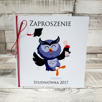 Zaproszenie na Studniówkę Sowa ZS03