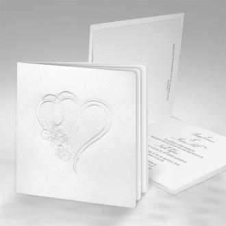 Zaproszenia Ślubne Złocone z sercami F1221tb