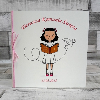 Zaproszenia na Komunie Dziewczynka ZK18