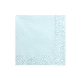 Serwetki trójwarstwowe, j. błękit, 33x33cm, 1op.
