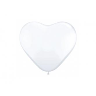 """Balony 10"""" Serca, Pastel biały, 1op."""