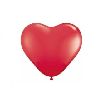 """Balony 10"""" Serca, Pastel czerwony, 1op."""