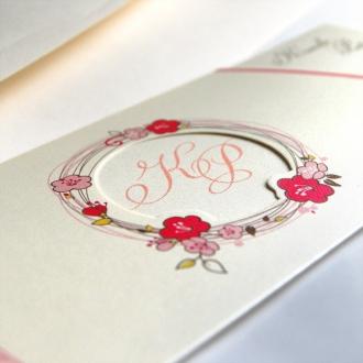 Malinowe Zaproszenia Ślubne w Etui F5476